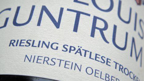 Etikett 2010 Nierstein Ölberg Riesling Spätlese - Louis Guntrum
