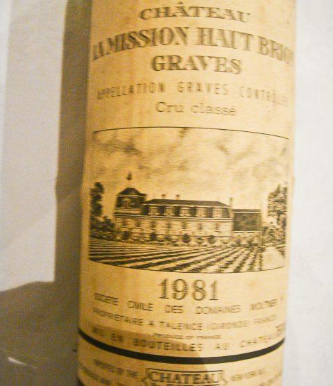 1981 Chateau La Mission Haut-Brion