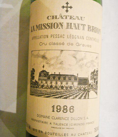 1986 Chateau La Mission Haut-Brion