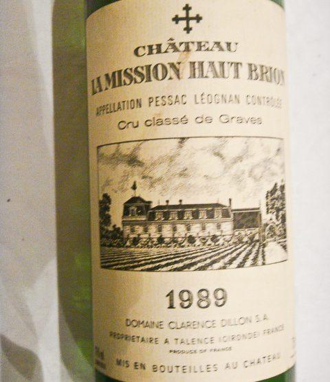 1989 Chateau La Mission Haut-Brion