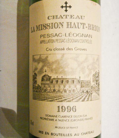 1996 Chateau La Mission Haut-Brion