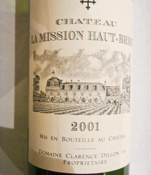 2001 Chateau La Mission Haut-Brion