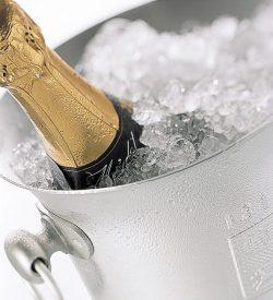Eisgekühlter Champagner