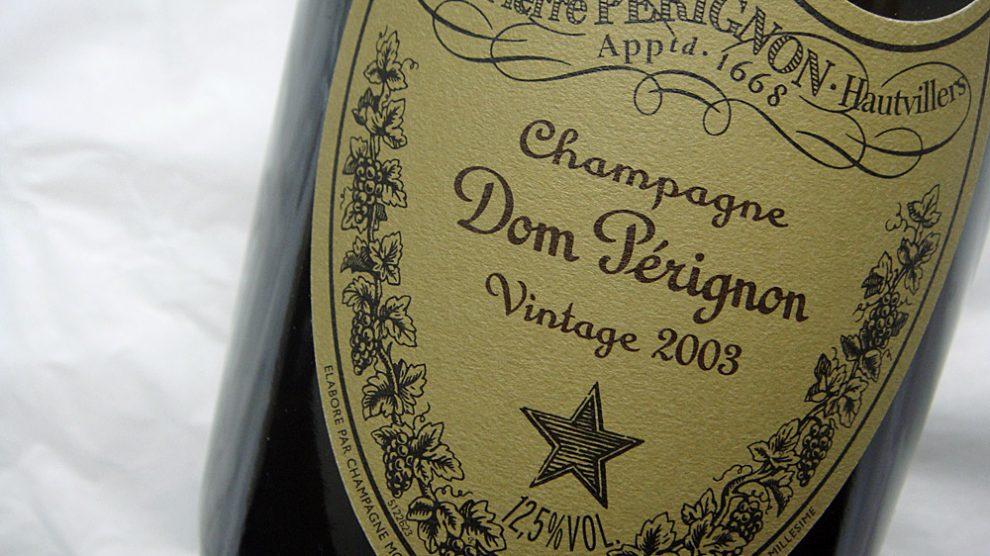 Etikett 2003 Dom Perignon