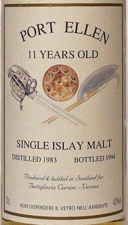 Port Ellen 1983-1994 11y Bottiglieria Corsini-Verona,43%
