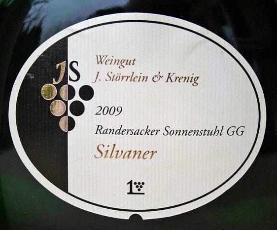 2009 Randersacker Sonnenstuhl GG Silvaner