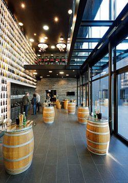 Verkostungsraum des Weinguts Scheiblhofer