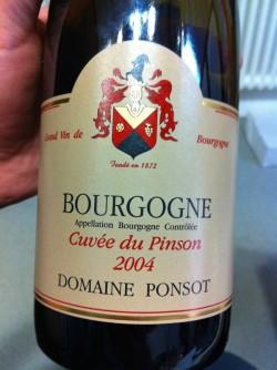 2004 Cuvée du Pinson | Domaine Ponsot