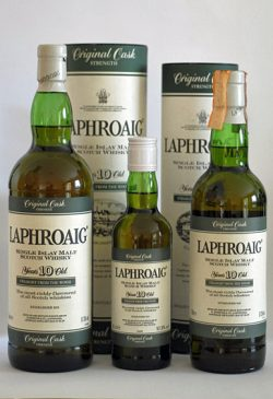 Laphroaig 10yo - Straight from the wood, Green Stripe, 57.3% - 1995