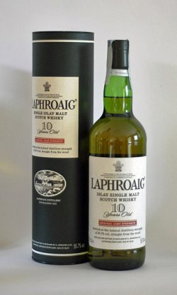 Laphroaig 10yo - Original Cask Strength, Red Stripe, 55.7% - 2005