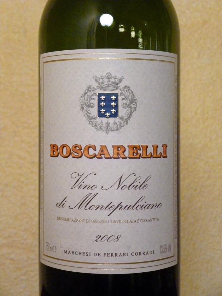 2008 Vino Nobile di Montepulciano   Boscarelli