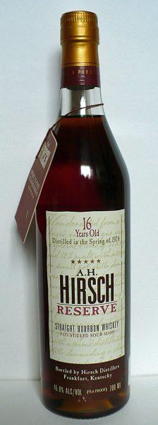 A.H. Hirsch 16y 1974 Reserve Kentucky Bourbon - American Oak - 45.8%