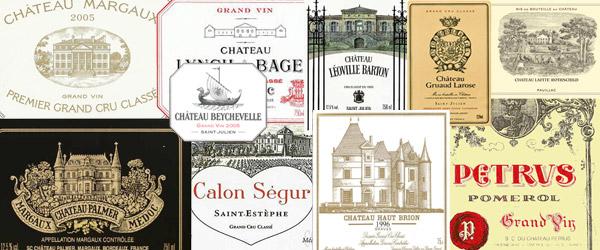 Bordeaux-Etiketten