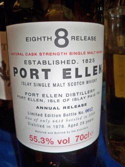 Port Ellen 8th Release 1978 – 2008 29y, limitiert auf 6618 Flaschen
