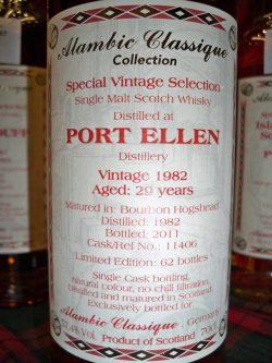 Port Ellen 1982 - 2011 Alambic Classique - Bourbon Hogshead Cask 11406, 57.5% und limitiert auf 62 Flaschen