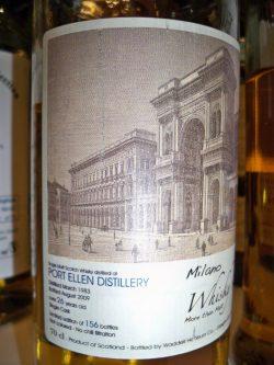 Port Ellen 26y 1983 – 2009, Waddell Hepburn for Milano Whisky Festival 2009, 56% und limitiert auf 156 Flaschen