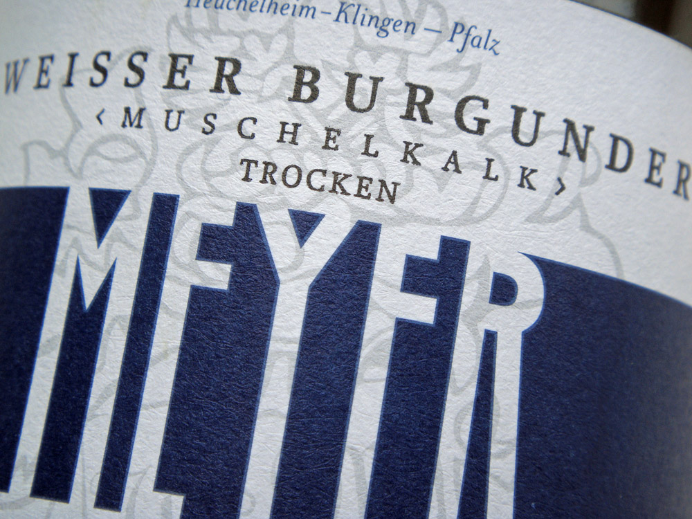 Etikett 2011 Weißburgunder Muschelkalk trocken