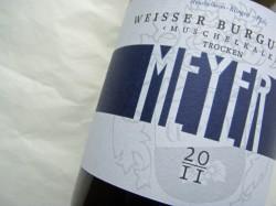 Etikett 2011 Weißburgunder Muschelkalk des Weinguts Meyer