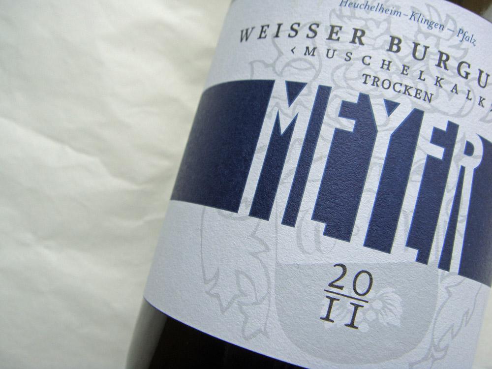 Etikett 2011 Weißburgunder von Andreas Meyer