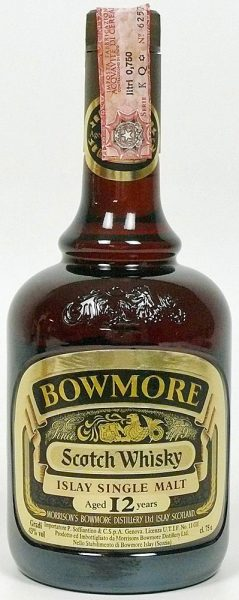 "Bowmore 12y ""dumpy brown bottle"""