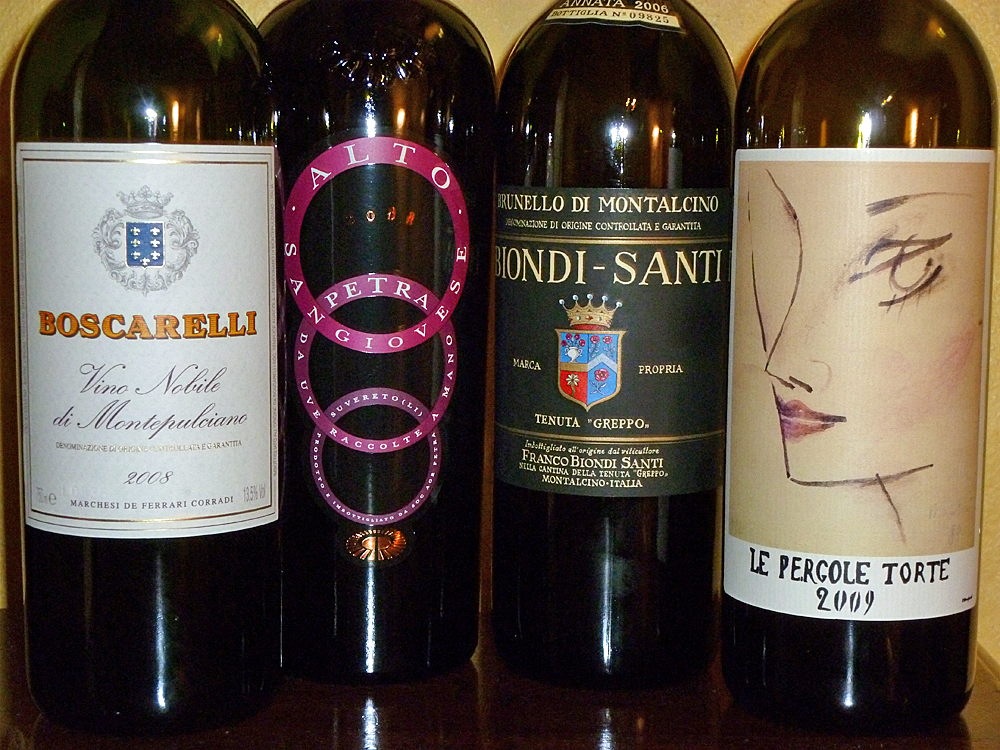 Best of Sangiovese: Montevertine, Biondi-Santi, Boscarelli, Petra