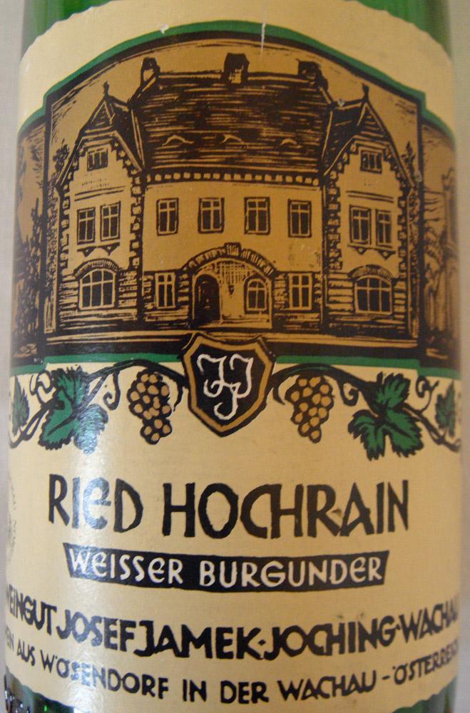 """1988 Weissburgunder Smaragd """"Hochrain"""""""