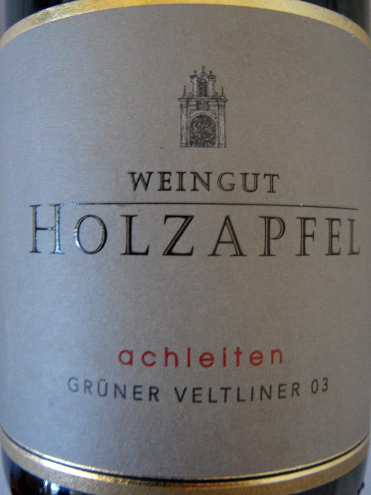 """2003 Grüner Veltliner Smaragd """"Achleithen"""""""