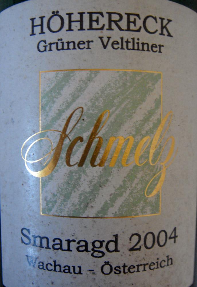 """2004 Grüner Veltliner Smaragd """"Höhereck"""""""