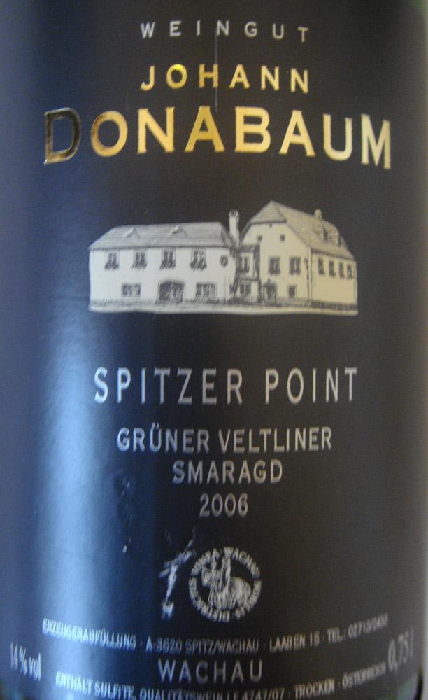 """2006 Grüner Veltliner Smaragd """"Point"""""""