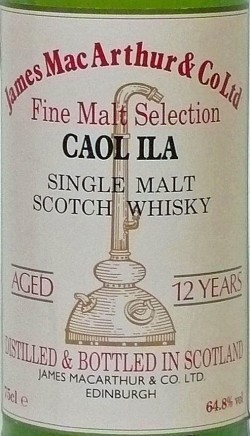 Caol Ila 12y – James MacArthur´s Fine Malt Selection –cask 560, 64.8%