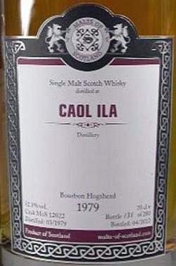Caol Ila 33y 79-12 – MoS - Bourbon Hogshead Cask 12022 - 280btl – 52.3%