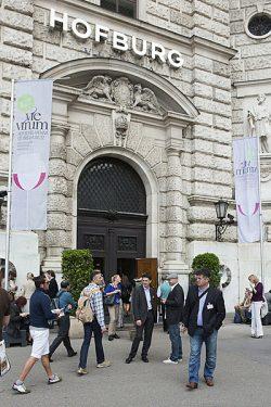 Eingang der Weinmesse VieVinum in der Hofburg | Foto:©Anna Stöcher/ÖWM