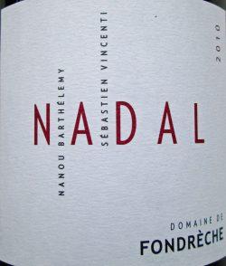 Etikett 2010 Ventoux Cuvée Nadal | Domaine de Fondrèche