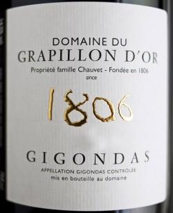 Etikett 2010 Gigondas | Domaine du Grapillon d'Or