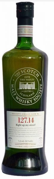 Port Charlotte 9y (2002-2011) SMWS Refill Ex Bourbon Barrel 127.14 – Right up my Street – limited 243 – 65.7%