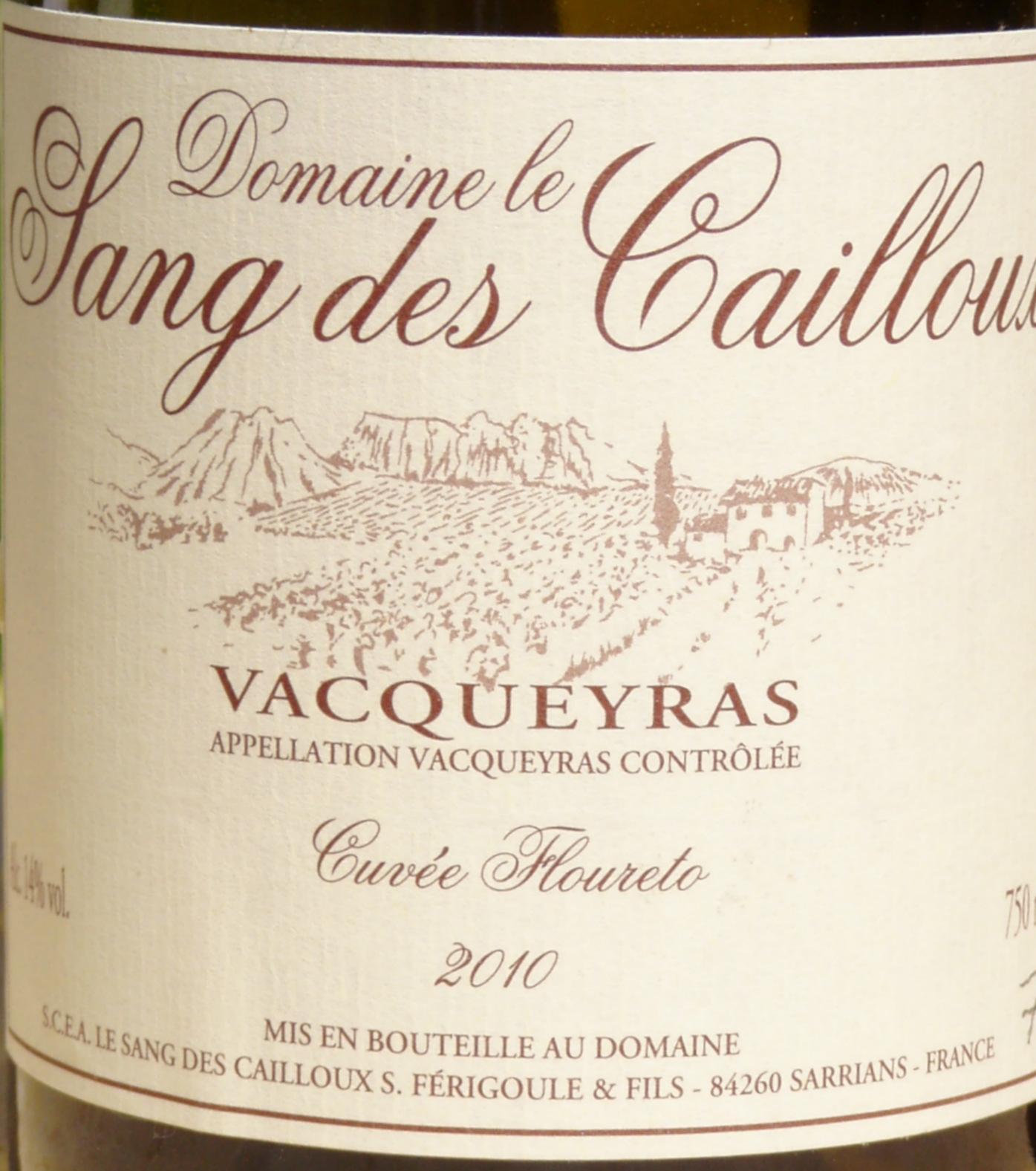 """2010 Vacqueyras """"Cuvée Floureto"""""""