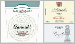 Etiketten Cascina Adelaide, Chiara Boschis und Damilano