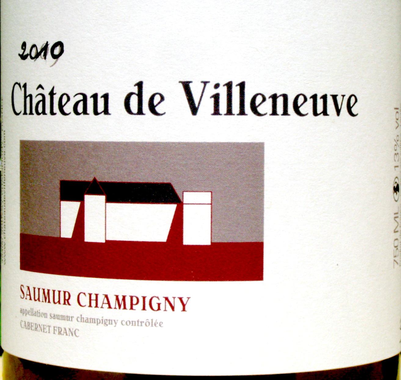 2010 Cabernet Franc, Chateau de Villeneuve