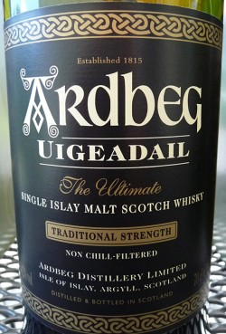 Ardbeg Uigeadail 2003 Etikett vorne