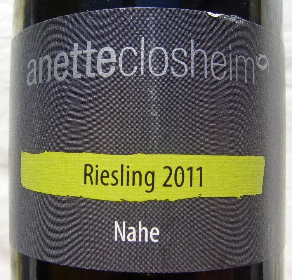 """2011 Riesling trocken """"anetteclosheim"""" - Annette Closheim"""