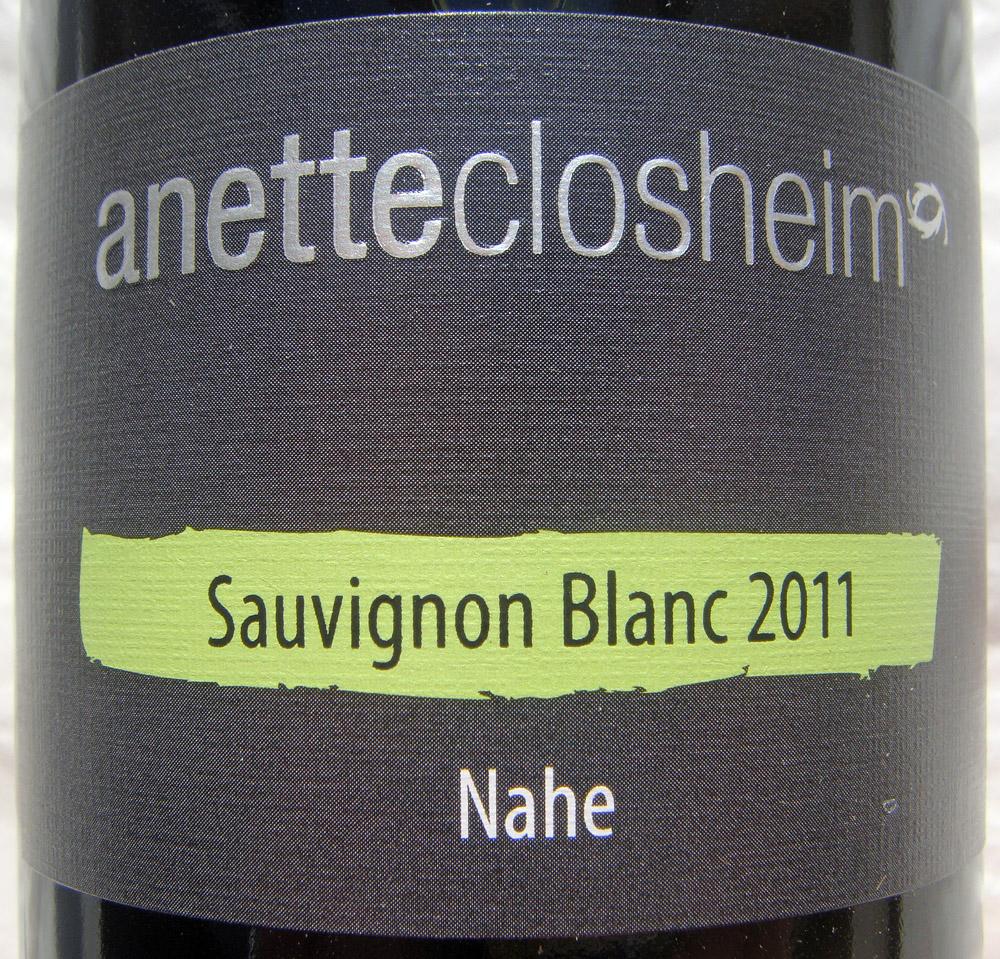 """2011 Sauvignon Blanc """"anetteclosheim"""" - Annette Closheim"""