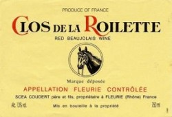 Etikett Clos de la Roilette Fleurie