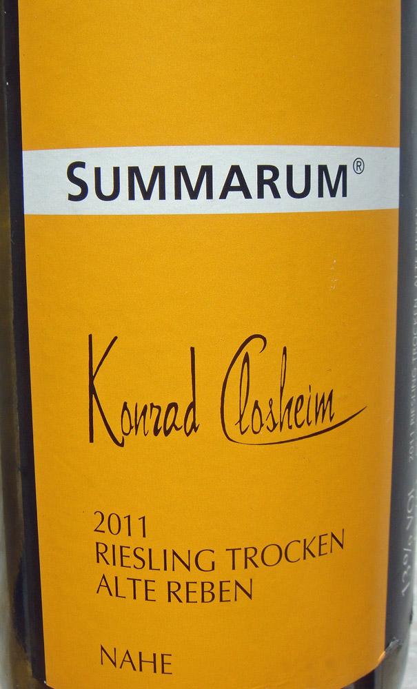 2011 Riesling SUMMARUM - Konrad Closheim