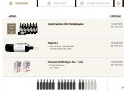 Warenkorb Wein