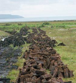 In den Heidemooren Islays wird Torf gestochen.
