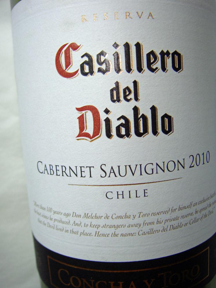 2011 Cabernet Sauvignon - Casillero del Diablo