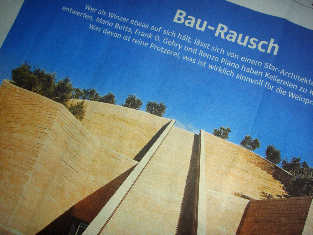 Der in der Süddeutschen Zeitung erschienene Artikel zu moderner Weingutsarchitektur.