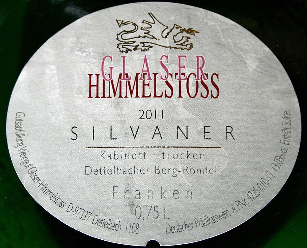 2011 Dettelbacher Berg-Rondell Silvaner Kabinett trocken