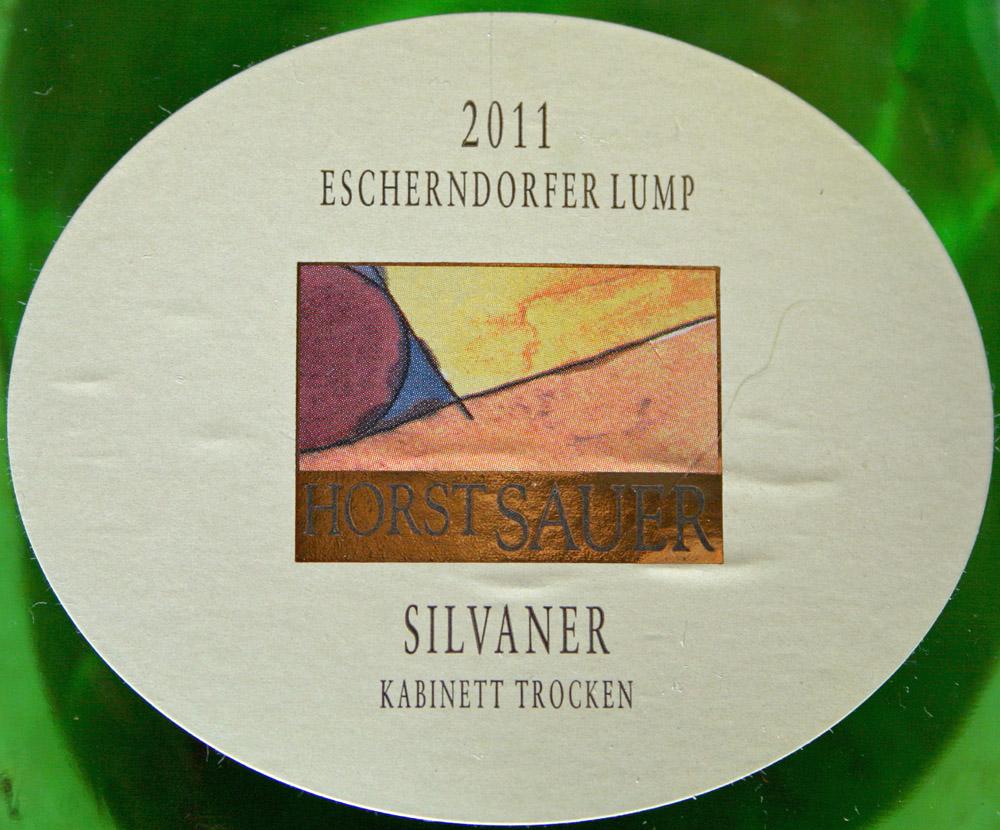 2011 Escherndorfer Lump Silvaner Kabinett trocken