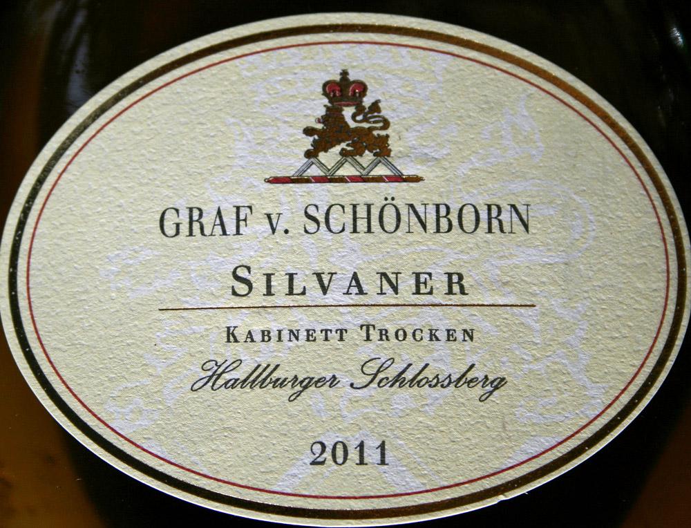2011 Hallburger Schlossberg Silvaner Kabinett trocken